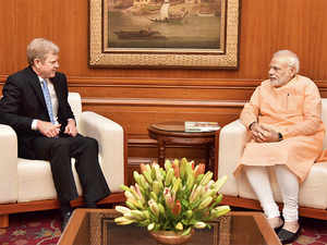 P&G's David Taylor met PM Narendra Modi on Monday and discussed various manufacturing initiatives.