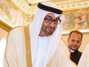 Zayed Al Nahyan's visit in January 2017, his second trip to the country since this February.