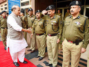 In pic: Rajnath Singh meeting BSF officials   The 46 Rashtriya Rifles camp that came under attack has four BSF bunkers of the nearby 40 battalion camp and were the first to come in the line of fire.
