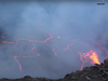 Lava trickling down the mountainside