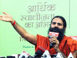 """Ramdev said, """"Some big names have approached us. Few meetings have already taken place. We will take the textile industry together and this will be a collective effort."""""""