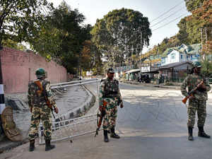 """""""Militants fired at the police guard posted at minority picket Jamnagri in Herpora area of Shopian at around 8:30 pm,"""" a police official said."""