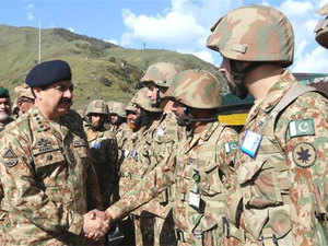 "Gen. Raheel Sharif showed his ""complete satisfaction over high state of morale, operational preparedness and vigil being maintained by troops along the LOC"","
