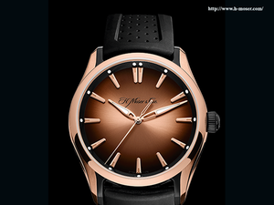 Known for its unique fume dial and a perpetual calendar which allows wearers to set the time backwards, Moser & Cie manufactures around 1,000 time pieces a year.