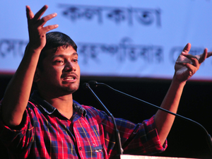 Till the interjection, Kanhaiya Kumar --constantly described by fellow panelist Madhu Kishwar as Kanhaiya Lal -was at his eloquent best treating the literary session almost like an election speech among fellow students.