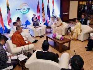 """An Outcome Document detailing deliberations by leaders of Bangladesh, India, Myanmar, Sri Lanka, Thailand, Bhutan and Nepal at their retreat, said they condemned in strongest terms the recent """"barbaric terror"""" attacks in the region"""