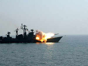 Brahmos is a supersonic cruise missile that can be launched from land, air, ships and submarines. It has a speed of 3 Mach.
