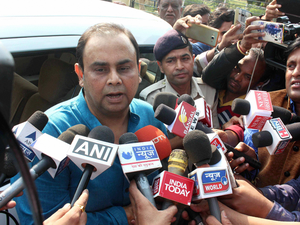 Director General of Police, Jail, Sanjay Choudhary, briefing media after eight members of Students of Islamic Movement of India (SIMI) escaped from Central Jail killing a security guard in Bhopal on Monday.