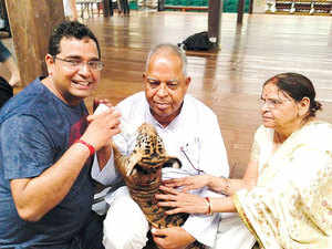 In Pic: Vijay Shekhar Sharma, founder of PayTM with his parents.