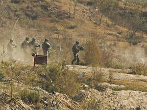 The security forces moved to the target house, hiding militants resorted to firing in an attempt to break the cordon. The security forces retaliated the fire. One militant was killed and a soldier injured.