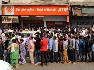 Thronging ATMs unnecessarily won't help. Standing in long queues and getting nothing after hours of waiting will just add to your misery.