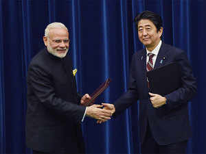 This was announced after talks between Prime Minister Narendra Modi and his Japanese counterpart Shinzo Abe here.