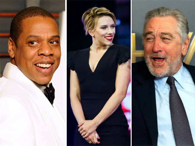 (L-R) Jay Z,  Scarlett Johansson and Robert De Niro have made a mark on the food map with their restaurants.