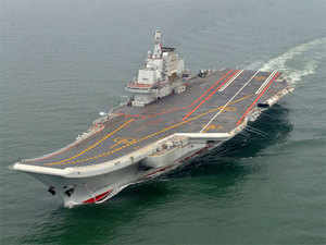 """Liaoning, which had previously been described in Chinese media as a surface platform for tests and training, has now """"formally been described as having a real combat capacity""""."""