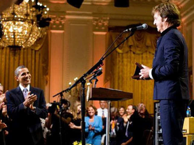 In a 2012 performance at the White House, McCartney sang his popular song, 'Hey Jude', on a special request from Obama.