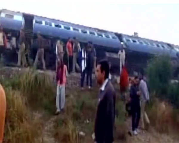 UP train derailment: Railways issues helpline numbers
