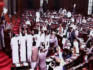 Slogan-shouting opposition members rushed into the well of the House, forcing Deputy Chairman P J Kurien to first adjourn the proceedings till 1130 hours and then again till noon.