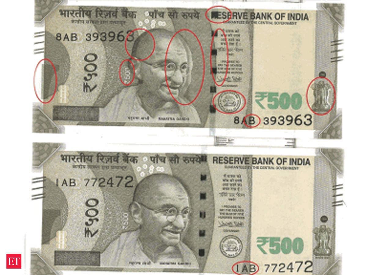 Two Variants Of New Rs 500 Note Surface Rbi Says Printing Defect Wiring Diagram Due To Rush The Economic Times
