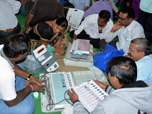 Polling was also held for municipal council presidents post in 147 places for which 1,013 candidates are in the race.