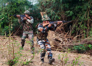 The forces were conducting search, the militants fired upon them, prompting retaliation.