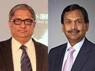 HDFC Bank's Managing Director Aditya Puri (left) and A O Smith's Ajita Rajendra (right).