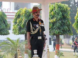 The army chief reviewed the security aspect post terror attack and paid tributes to those killed in the strike.