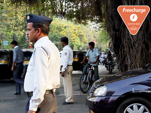 The user can log on to www.mumbaipolice.net, enter their challan or vehicle number and pay using FreeCharge on the payments page.