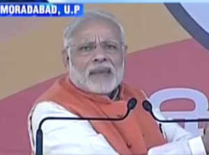 'A queue to end all queues': PM Modi hard-sells demonetisation in Moradabad
