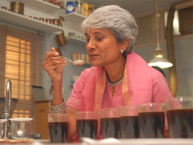 Sunalini Menon, a coffee taster and CEO of Coffee Labs is an avid collector of memorabilia concerning coffee.