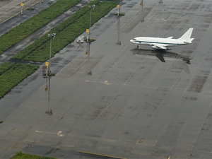 File picture of the Chennai Airport which suspended its operations on Monday due to heavy rains following Cyclone Vardah.