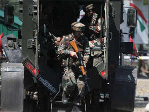 Militants opened fire on a patrol party of army at Beewra in Srigufwara area of Anantnag district this morning, a police official said.