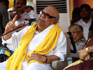 The hospital said Karunanidhi was readmitted with breathing difficulty due to throat and lung infection.