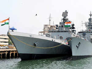 INS Shivalik and INS Betwa docked at Chennai Port as a part of Excercise Malabar-15-Naval co-operation between India,US and Japan.