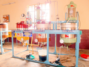 Bio fuel production setup at Nitte Mahalinga Adyanthaya Memorial Institute of Technology.