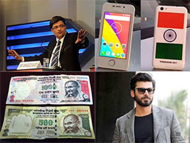 With Arnab Goswami, Freedom 251, Pakistani actors, Rs 1000 and 500 notes 2016 was definitely the year of high-profile exits. ET Magazine looks back at the 2016 departures.