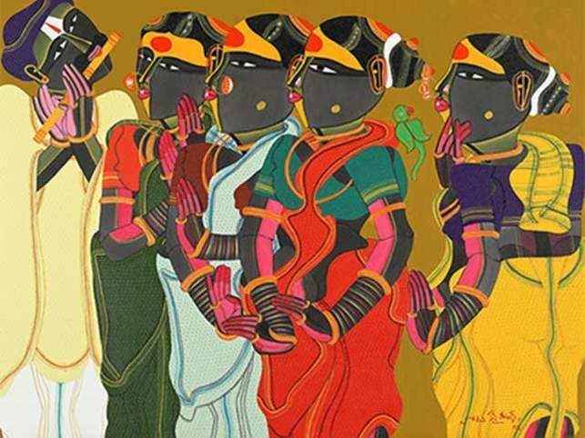 A painting by Thota Vaikuntam.