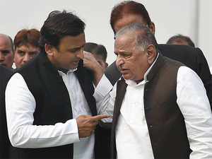 Party sources said the Chief Minister, before meeting Mulayam, met legislators and office bearers who do not figure in the list of nominees.