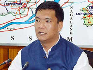 Khandu paraded the MLAs before Assembly Speaker Tenzing Norbu Thongdok who accepted their joining.