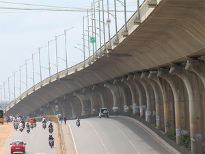 The construction of the country's largest metro station at Majestic within the KSRTC premises was started in 2012