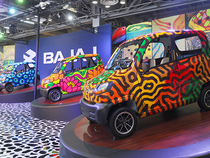 Bajaj Auto's commercial vehicle sales stood at 22,217 units during the month under review compared with 41,221 in the year-ago period, down 46 per cent.