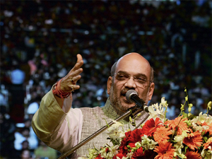 """Take potshots at the ongoing feud in the Samajwadi Party, Shah said the """"chacha"""" and """"bhatija"""" were squabbling while the development of the state had taken a backseat."""