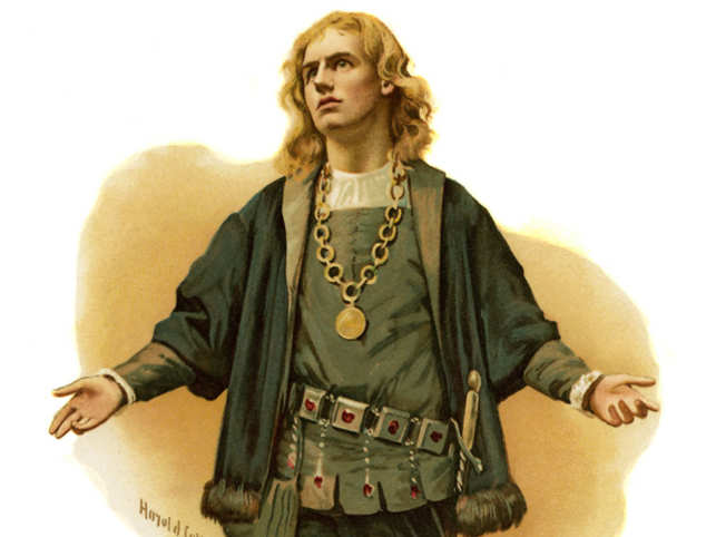 Hamlet, Prince of Denmark by William Shakespeare. Illustration by Harold Copping.