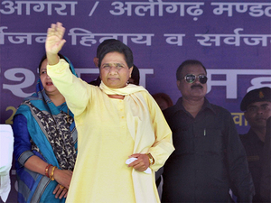 """""""Despite BJP national president Amit Shah repeatedly asking the people at the rally, they remained silent and did not appear ready to accept that Modi (who represents the state in Lok Sabha) is from Uttar Pradesh,"""" Mayawati claimed."""