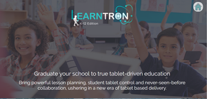 Learntron is a software-as-a-service company that provides a platform that can be used by companies with educational content.