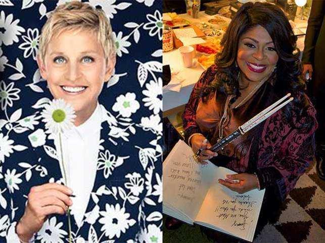 TV host and comedian Ellen DeGeneres (left) and singer Kim Burrell (right).