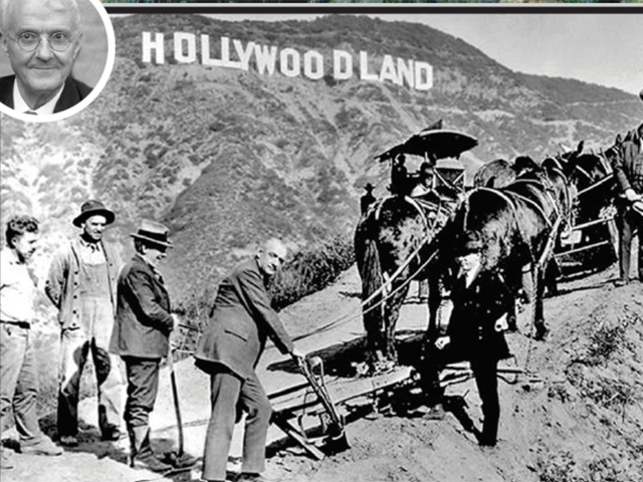 """The famous """"Hollywood"""" sign was vandalised as """"Hollyweed"""" recently, after Californians voted to make recreational use of marijuana legal."""