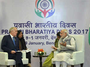 """Noting that India has various defence needs, for example Rafale fighter aircraft, he said, """"It needs sub marines, it needs helicopeters... So we did discuss all of these."""""""