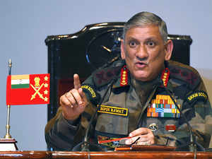 "I repeat, we will give a befitting reply to any action on LC or the border,"" the army chief said."