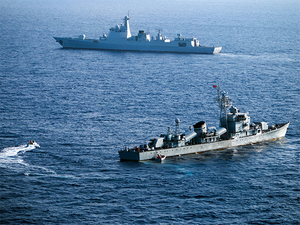 China's sole aircraft carrier Liaoning had passed through the narrow Taiwan Strait last month.