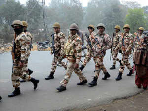 Finance Minister Arun Jaitley, in the budget presented today, allocated a total of Rs 54,985.11 crore to seven paramilitary forces as against about Rs 52,443 crore for the ongoing fiscal.
